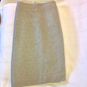 J. Crew Gray Wool Skirt